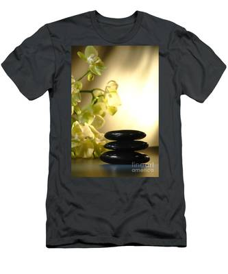 Stone Cairn And Orchids Men's T-Shirt (Athletic Fit)