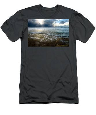 Men's T-Shirt (Athletic Fit) featuring the photograph Storm Warning by Michael Goyberg