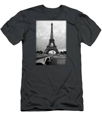 Summer Storm Over The Eiffel Tower Men's T-Shirt (Athletic Fit)