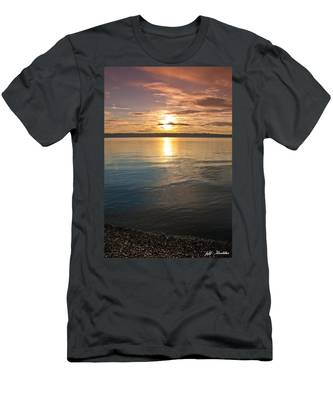 Sunset Over Puget Sound Men's T-Shirt (Athletic Fit)