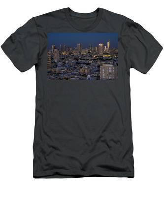 Tel Aviv At The Twilight Magic Hour Men's T-Shirt (Athletic Fit)