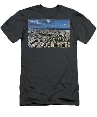 Tel Aviv Center Men's T-Shirt (Athletic Fit)