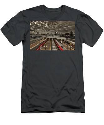 Tel Aviv Central Railway Station Men's T-Shirt (Athletic Fit)