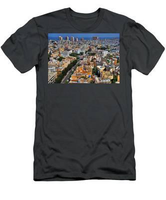 Tel Aviv Eagle Eye View Men's T-Shirt (Athletic Fit)