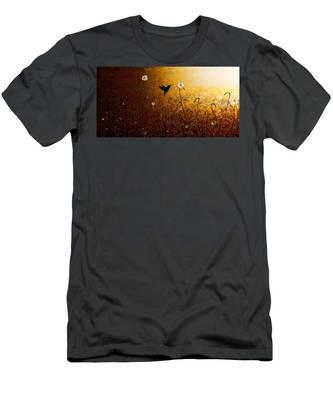 The Flight Of A Hummingbird Men's T-Shirt (Athletic Fit)