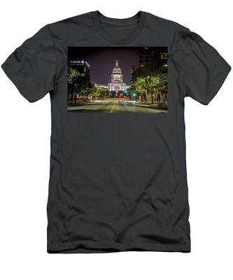 The Texas Capitol Building Men's T-Shirt (Athletic Fit)