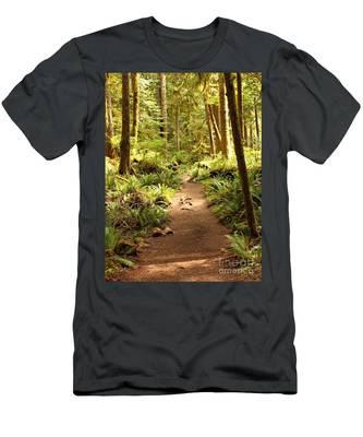 Trail Through The Rainforest Men's T-Shirt (Athletic Fit)