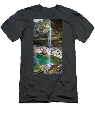 Waterfall At Hamilton Pool Men's T-Shirt (Athletic Fit)