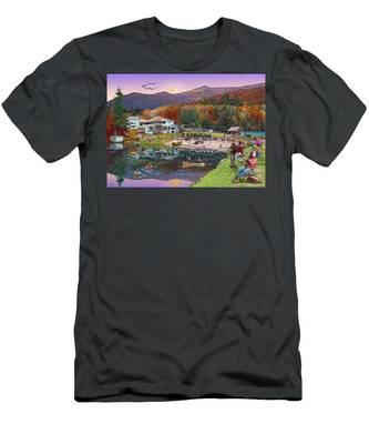 Waterville Estates In Autumn Men's T-Shirt (Athletic Fit)