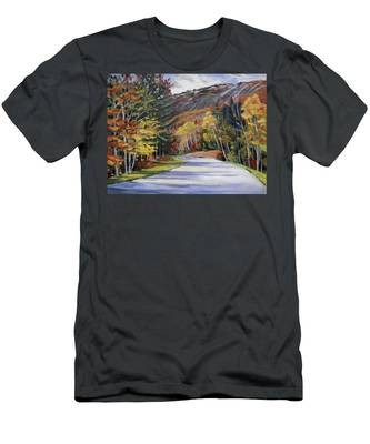 Waterville Road New Hampshire Men's T-Shirt (Athletic Fit)