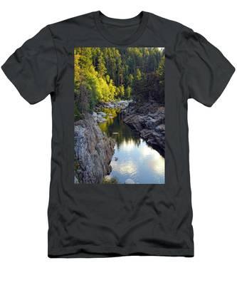 Yuba River Twilight Men's T-Shirt (Athletic Fit)