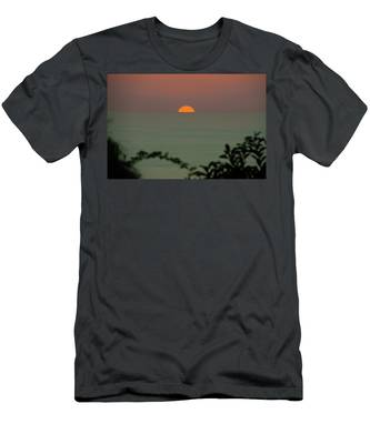 Men's T-Shirt (Athletic Fit) featuring the photograph Sunset Over The Sea by Michael Goyberg