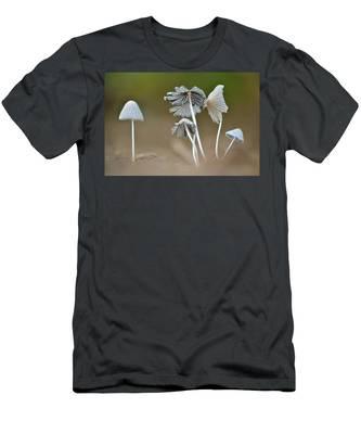 Ink-cap Mushrooms Men's T-Shirt (Athletic Fit)