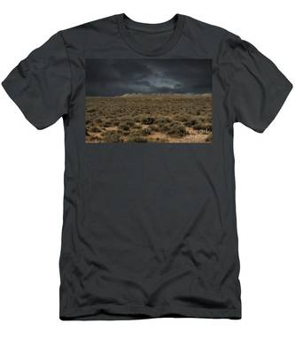 Midnight On The Pairie In Wyoming Men's T-Shirt (Athletic Fit)