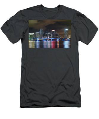 Port Of Miami Downtown Men's T-Shirt (Athletic Fit)