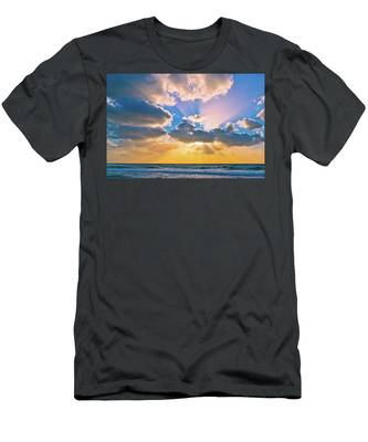 Men's T-Shirt (Athletic Fit) featuring the photograph The Sea In The Sunset by Michael Goyberg