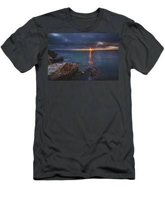 Men's T-Shirt (Athletic Fit) featuring the photograph Beautiful Sunset At Marina Del Rey by Andy Konieczny