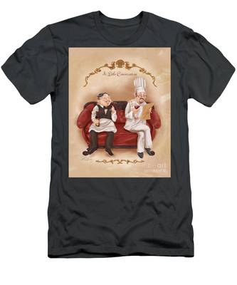 Chefs On A Break-a Little Conversation Men's T-Shirt (Athletic Fit)