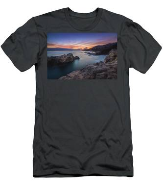 Men's T-Shirt (Athletic Fit) featuring the photograph Leo Carrillo State Beach After Sunset by Andy Konieczny