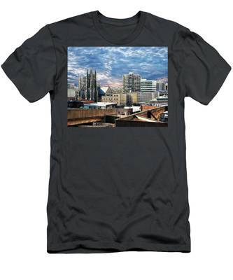 Stamford Cityscape Men's T-Shirt (Athletic Fit)