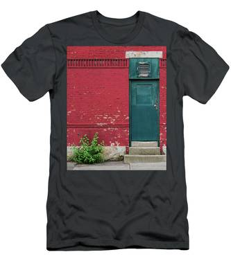 Men's T-Shirt (Athletic Fit) featuring the photograph The Door by Brad Wenskoski