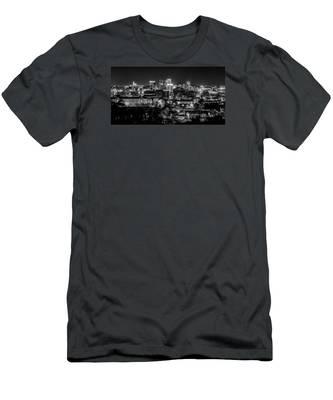 Birmingham Alabama Evening Skyline Men's T-Shirt (Athletic Fit)