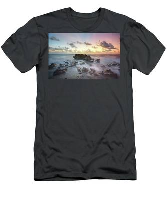 A Rocky Sunrise. Men's T-Shirt (Athletic Fit) by Evelyn Garcia