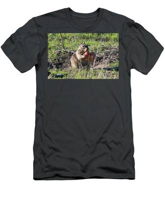 Men's T-Shirt (Athletic Fit) featuring the photograph An Apple A Day  by Christy Pooschke