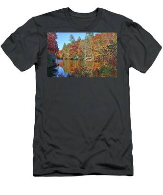 Autumn At The Lake 2 Men's T-Shirt (Athletic Fit)