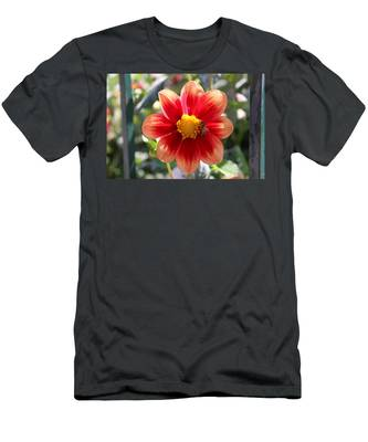 Men's T-Shirt (Athletic Fit) featuring the photograph Bee On A Flower  by Christy Pooschke