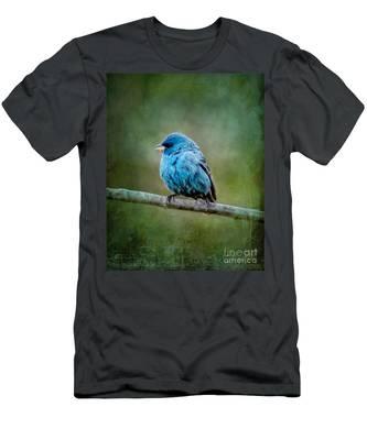 Bird In Blue Indigo Bunting Ginkelmier Inspired Men's T-Shirt (Athletic Fit)