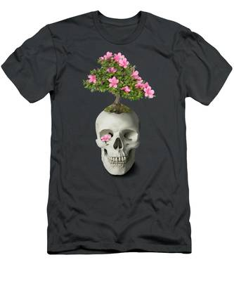 Bonsai Skull Men's T-Shirt (Athletic Fit)