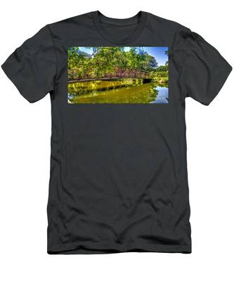 Bridge Over Delaware Canal At Colonial Park Men's T-Shirt (Athletic Fit)