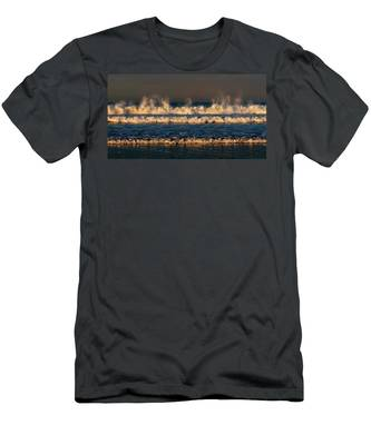 Men's T-Shirt (Athletic Fit) featuring the photograph Dancing Waves - 3 by Christy Pooschke