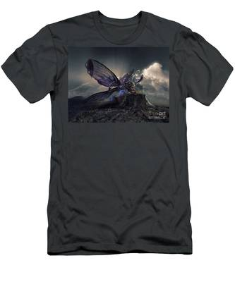 Butterfly And Caterpillar Men's T-Shirt (Athletic Fit)