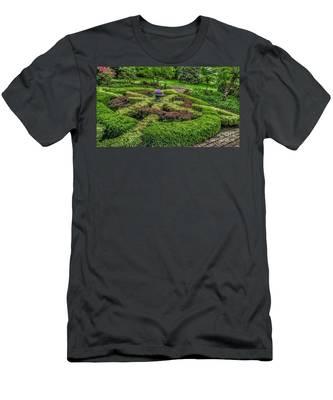 Celtic Topiary At Frelinghuysen Arboretum Men's T-Shirt (Athletic Fit)