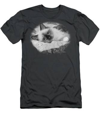 Charming - Black And White Men's T-Shirt (Athletic Fit)