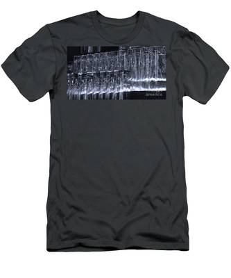 Chasing Waterfalls - Blue Men's T-Shirt (Athletic Fit)