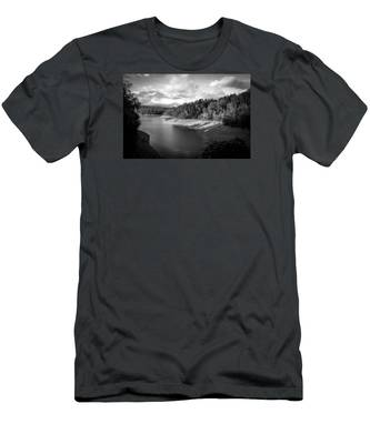 Clouds Above The Nantahala River In Nc Men's T-Shirt (Athletic Fit)