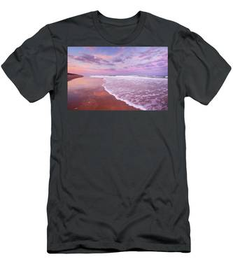 Cotton Candy Sunset. Men's T-Shirt (Athletic Fit) by Evelyn Garcia