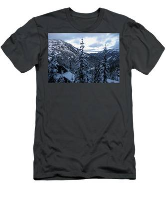 Crystal Mountain Dawn Men's T-Shirt (Athletic Fit)