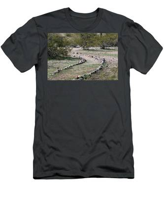 Men's T-Shirt (Athletic Fit) featuring the photograph Desert Walking Trail  by Christy Pooschke