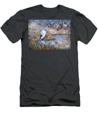 Ducks. Split Opposite Colour Harmony.  Men's T-Shirt (Athletic Fit)