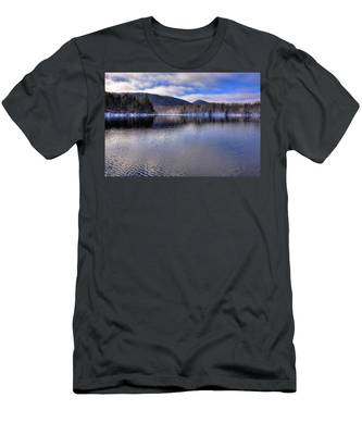 Early Snow On West Lake Men's T-Shirt (Athletic Fit)