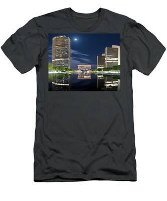 Men's T-Shirt (Athletic Fit) featuring the photograph Empire State Plaza by Brad Wenskoski