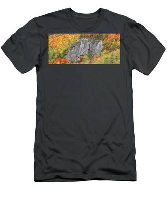 Men's T-Shirt (Athletic Fit) featuring the photograph Fall Climbing by Brad Wenskoski