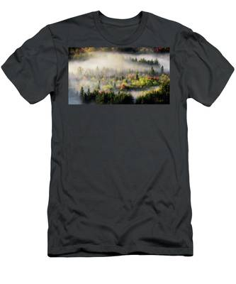 Men's T-Shirt (Athletic Fit) featuring the photograph Fall Fog by Brad Wenskoski