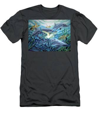 Fins And Flippers Men's T-Shirt (Athletic Fit)