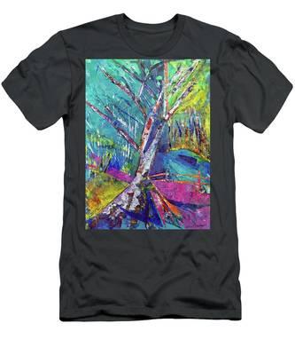 Firey Birch Men's T-Shirt (Athletic Fit)