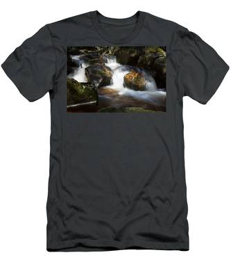 first spring sunlight on the Warme Bode, Harz Men's T-Shirt (Athletic Fit)